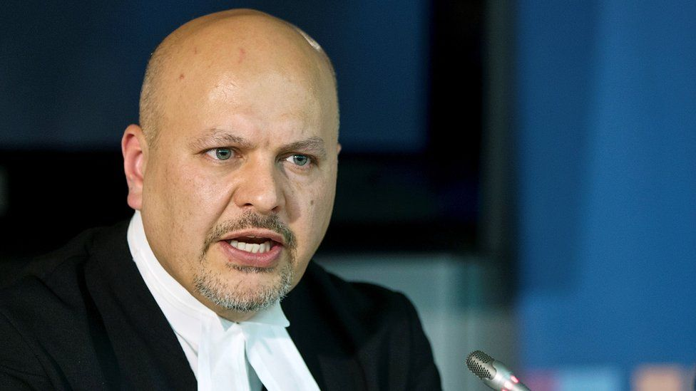 Karim Khan at a news conference at the ICC in 2013