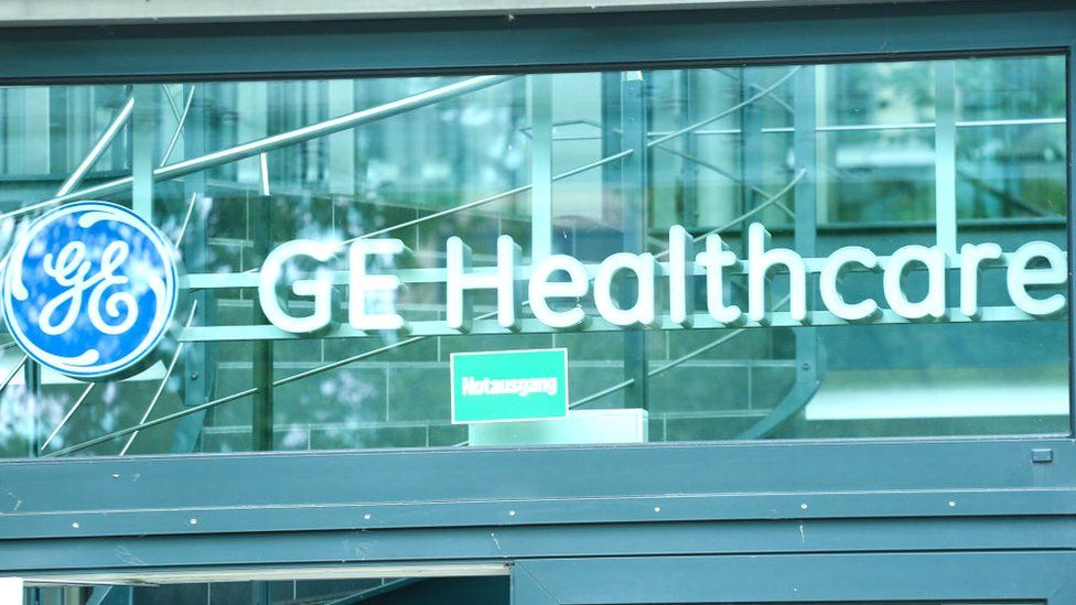 GE Healthcare sign on an office