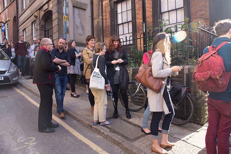 Queues wait outside Sheffield Soup