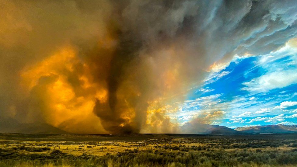 Firenado in Lassen County on 15 August