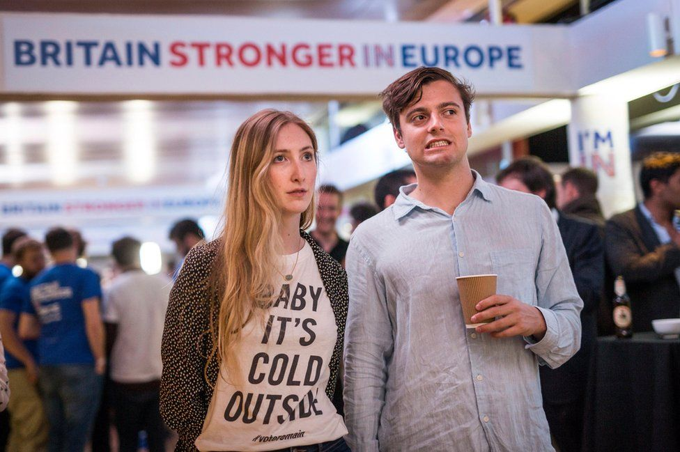 Supporters of the Stronger In campaign