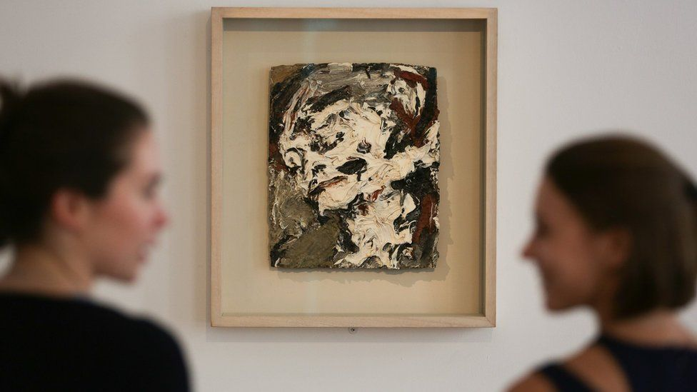 Head of Gerda Boehm by German-born British artist Frank Auerbach, executed in 1965, with an estimated price of £300,000-500,000