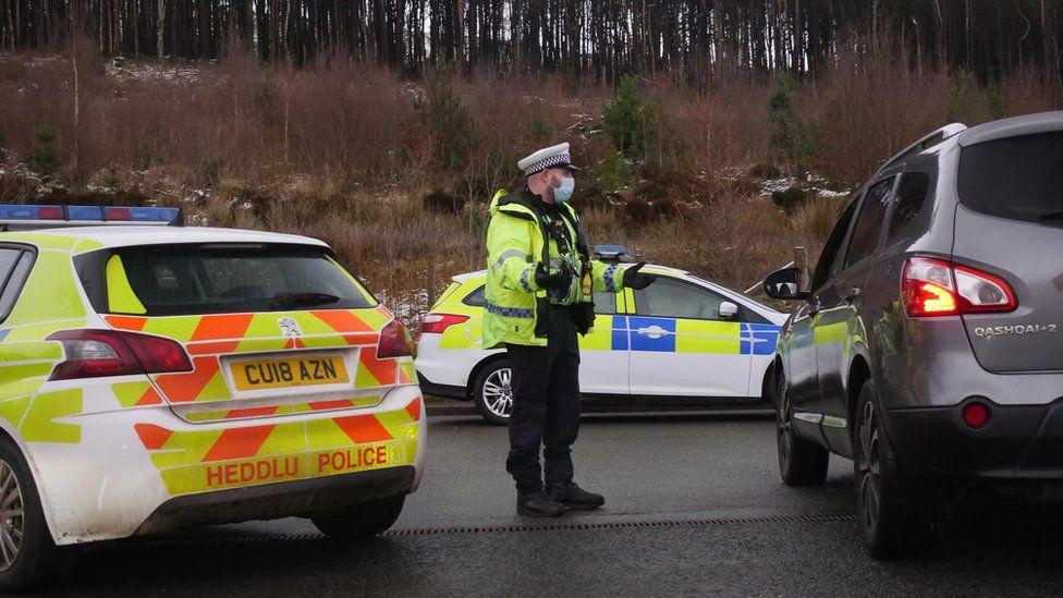 Police at Pen Y Fan