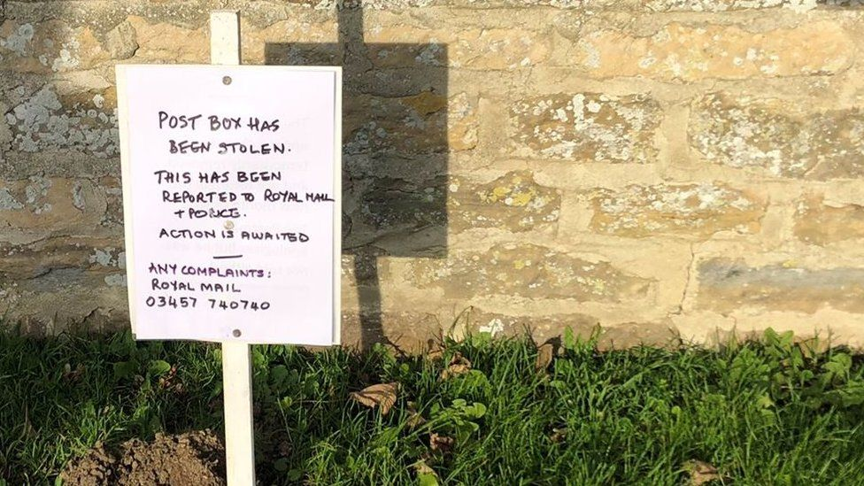 Sign outside church
