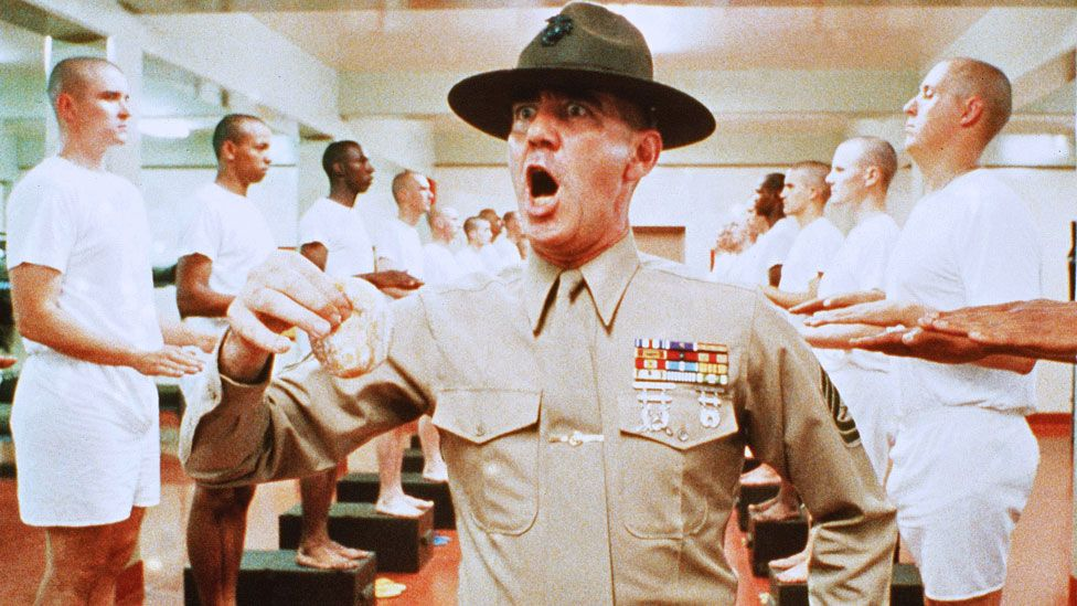 R. Lee Ermey in the film Full Metal Jacket