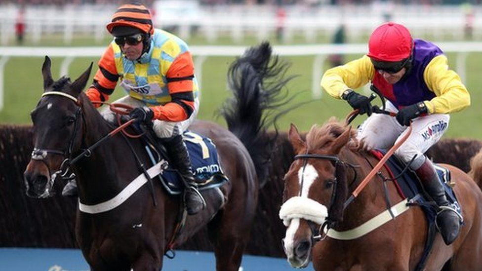 Native River and Mighty Bite battle for the Gold Cup