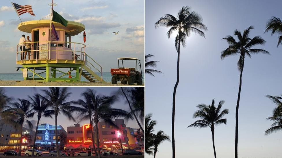 Composite of pictures of Miami