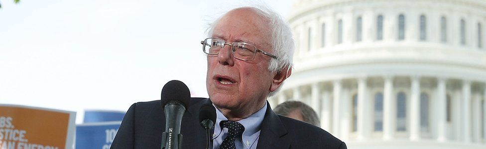 Bernie Sanders on Capitol Hill, April 27, 2017 in Washington DC.