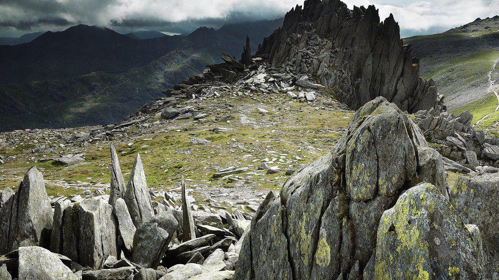 Castell y Gwynt ar y Glyder Fach / The rocky outcrop of Castell y Gwynt on Glyder Fach