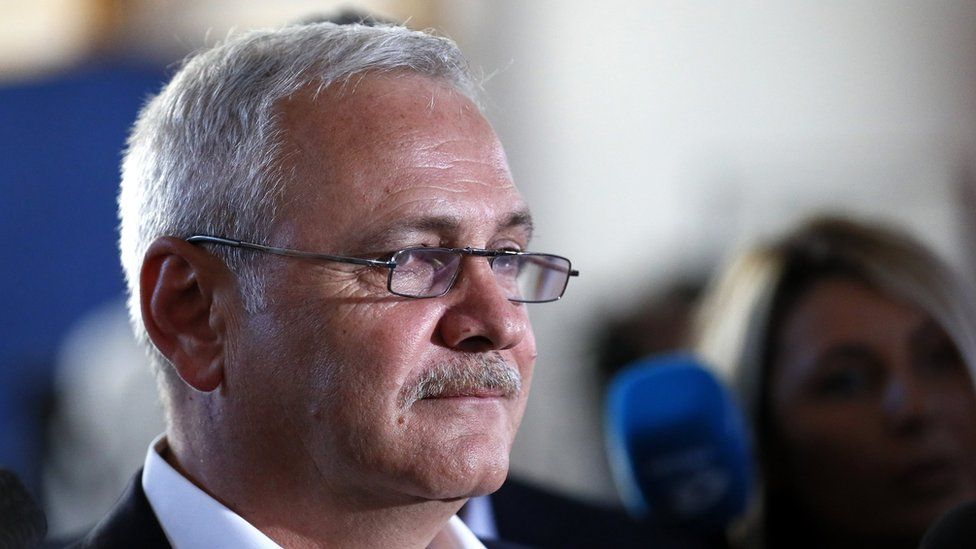 Liviu Dragnea, leader of Romania's ruling Social Democracy Party (PSD), queues to register to vote in the European elections in Bucharest, Romania