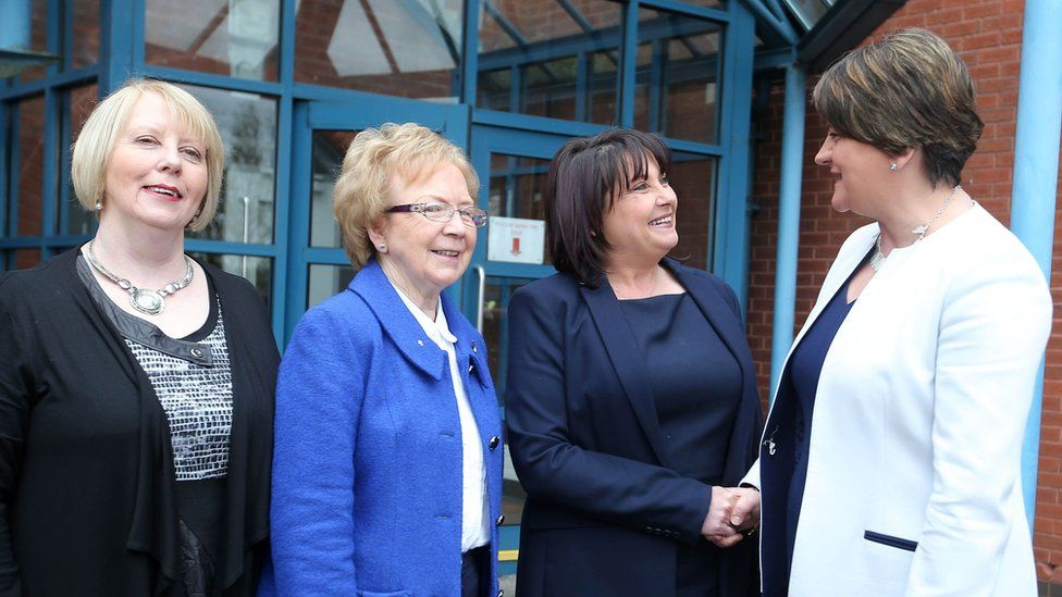 Arlene Fosters meets representatives from Our Lady's Grammar School in Newry