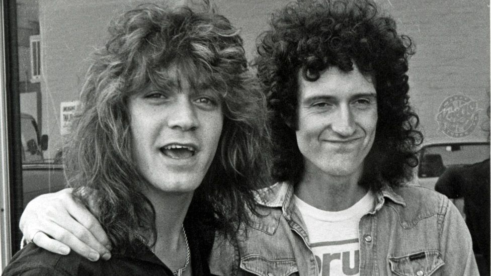 Eddie Van Halen and Brian May