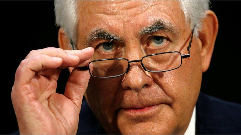 Rex Tillerson, the former chairman and chief executive officer of Exxon Mobil, testifies during a Senate Foreign Relations Committee confirmation hearing to become U.S. Secretary of State on Capitol Hill in Washington, U.S. January 11, 2017.