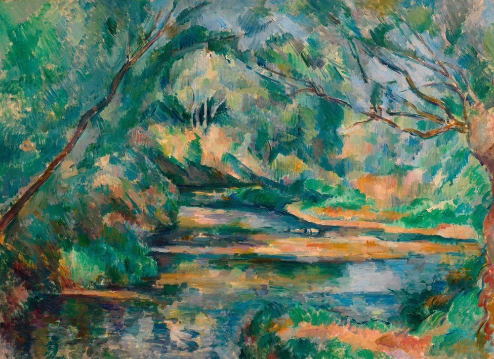 The Brook c. 1895-1900 by Cezanne