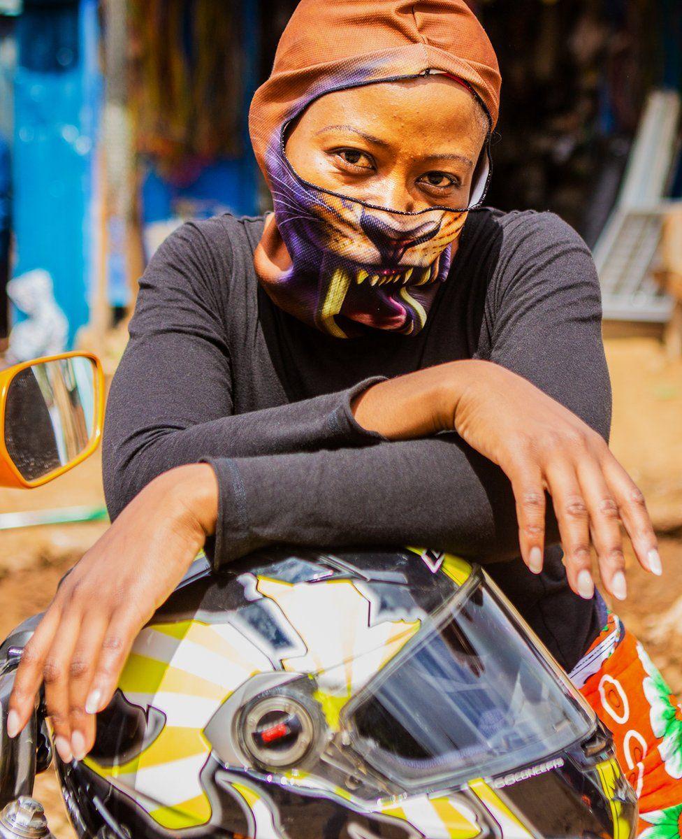 Kenyan biker Patience Mehta