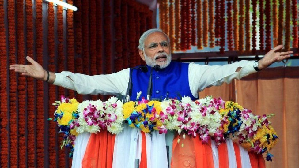 Indian Prime Minister Narendra Modi in Kashmir. Photo: 7 November 2015