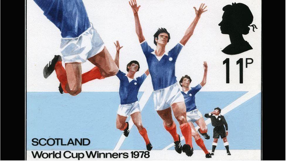 Scotland winning the 1978 World Cup stamp