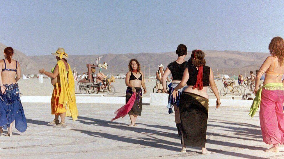 Festival-goers at Burning Man