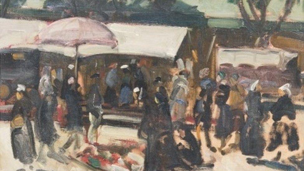 Market Day, Concarneau, by John Cyrlas Williams