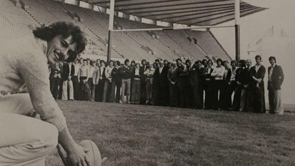 David Burgess at Cardiff Arms Park