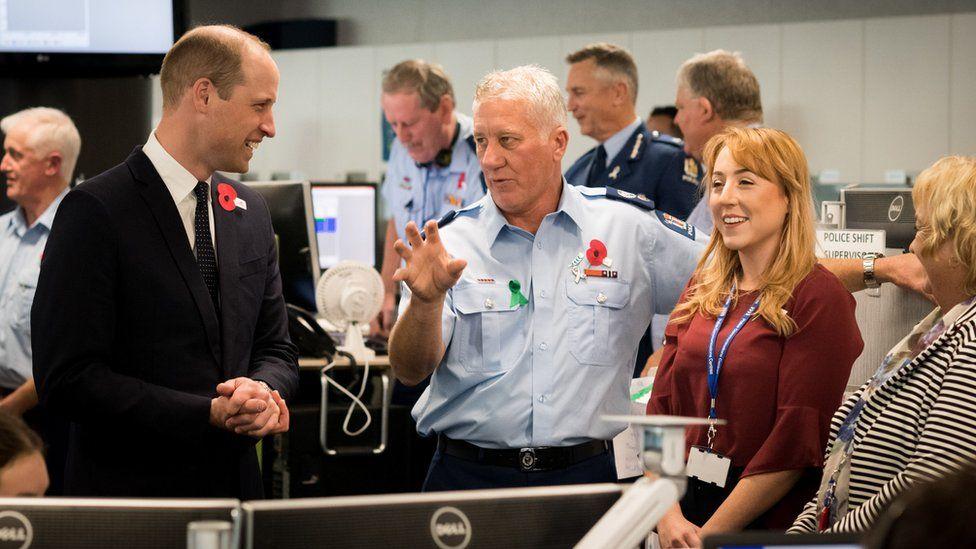 Duke of Cambridge meets police and St John ambulance staff