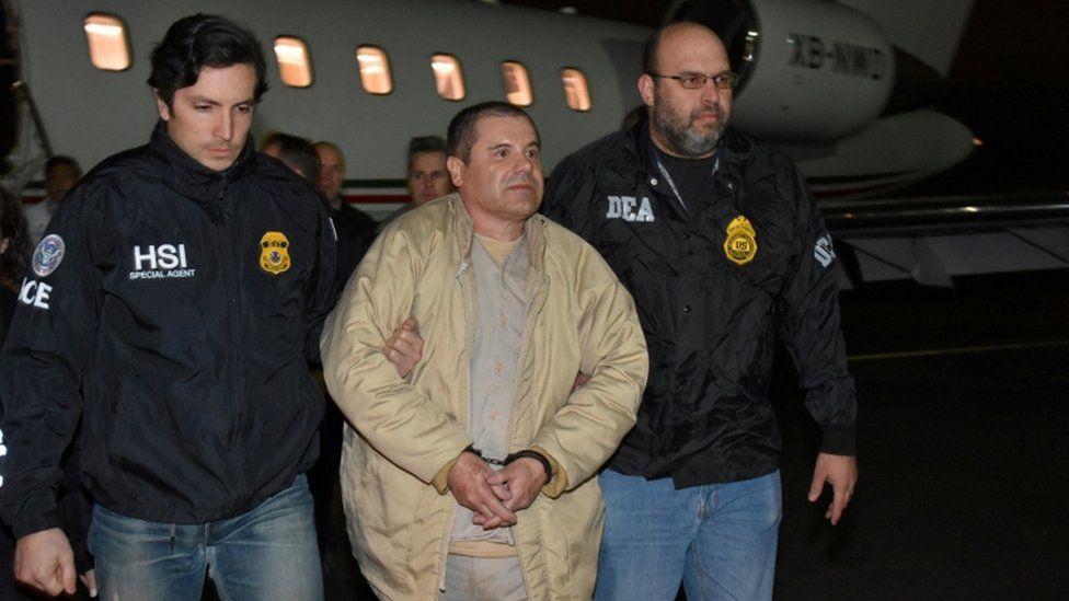 """Joaquin """"El Chapo"""" Guzman arrives in Long Island, US, on 19 Jan 2017"""