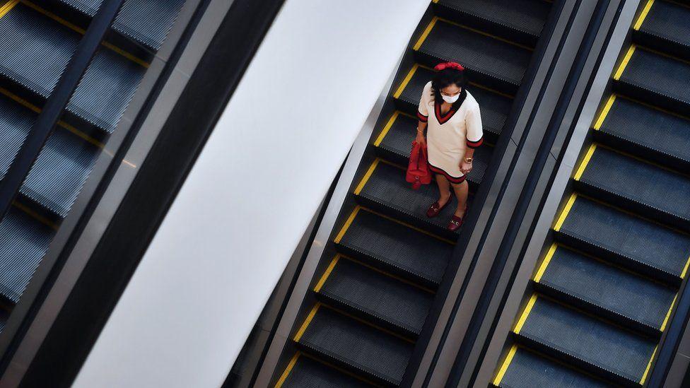 A woman in a shopping centre in Bangkok