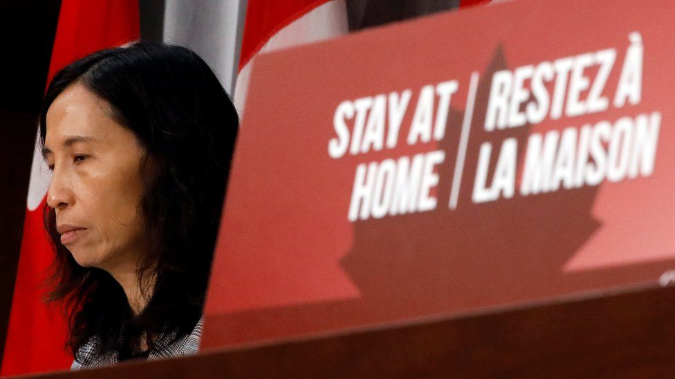 Canada's Chief Public Health Officer Theresa Tam at news conference 9 April in Ottawa