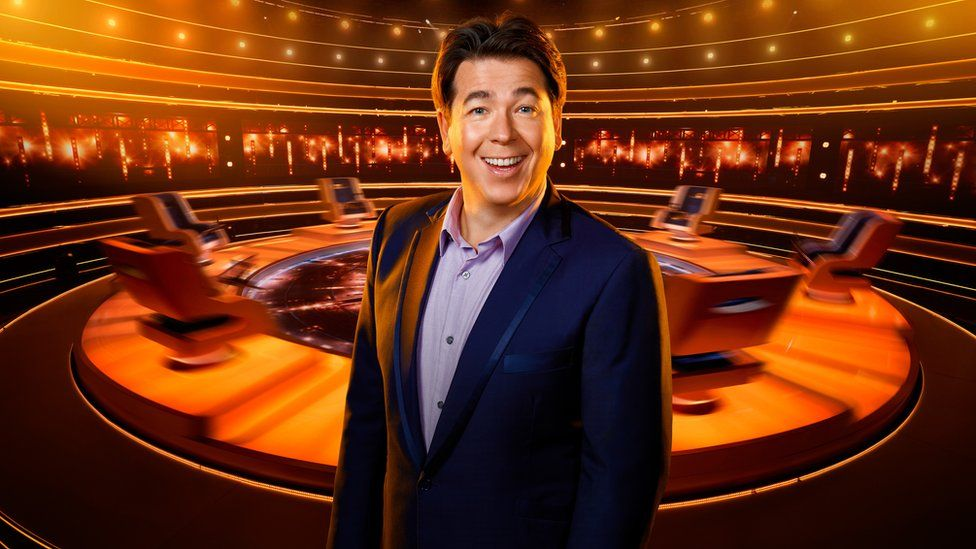 Michael McIntyre on the set of The Wheel