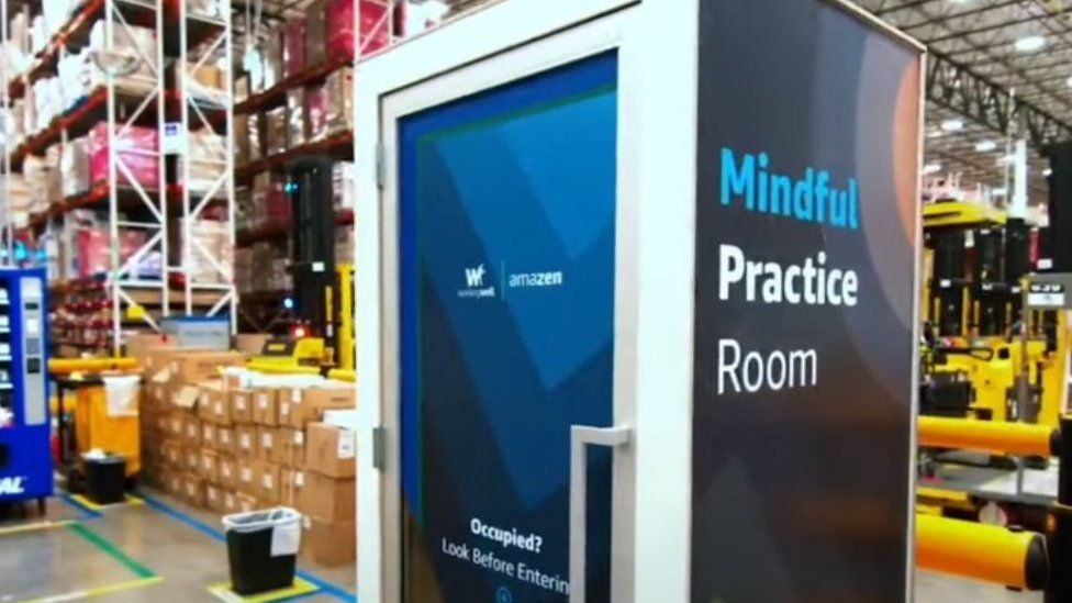 Amazon offers 'wellness chamber' for stressed staff - BBC News