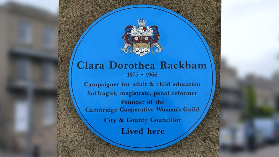 Blue plaque and Park Terrace, Cambridge