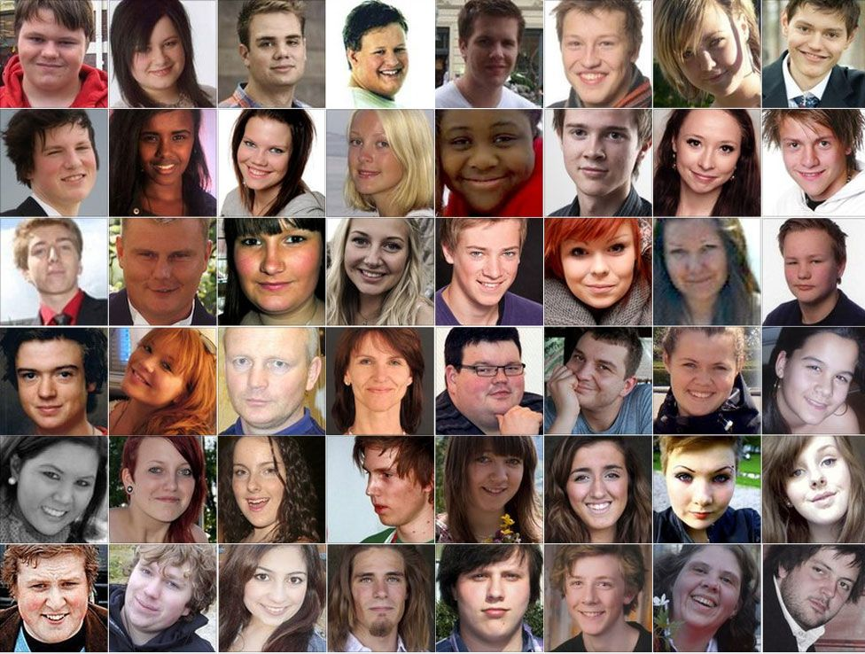 Utoeya island victims - photos of some of those who died are not available