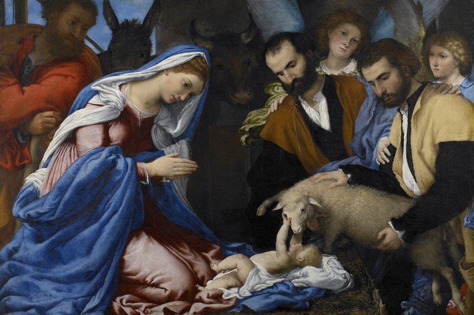Adoration of the shepherds (Lorenzo Lotto 16th Century)