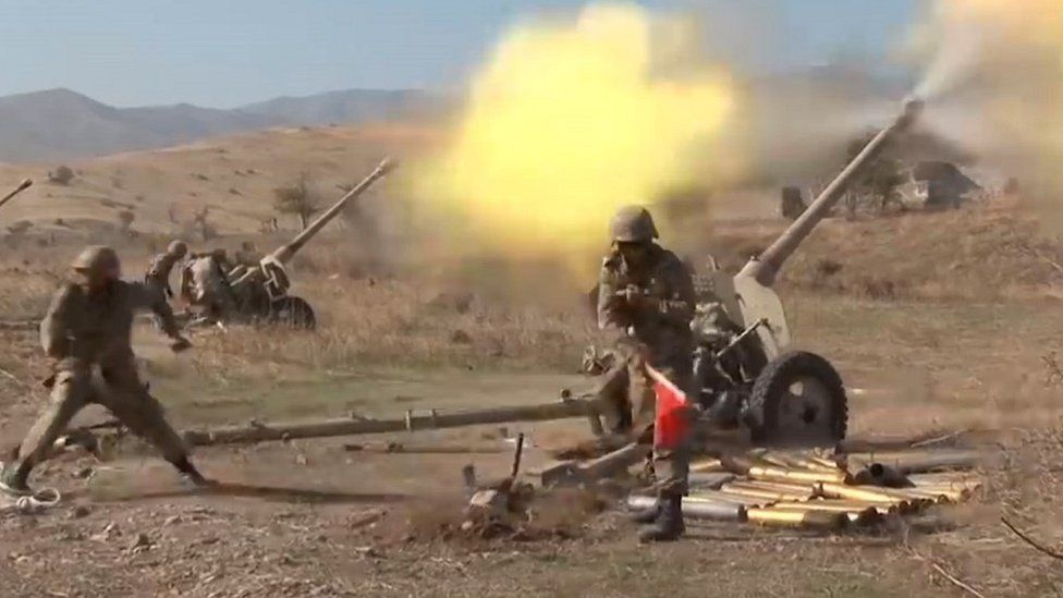 Azerbaijan artillery, file pic, 20 Oct 20
