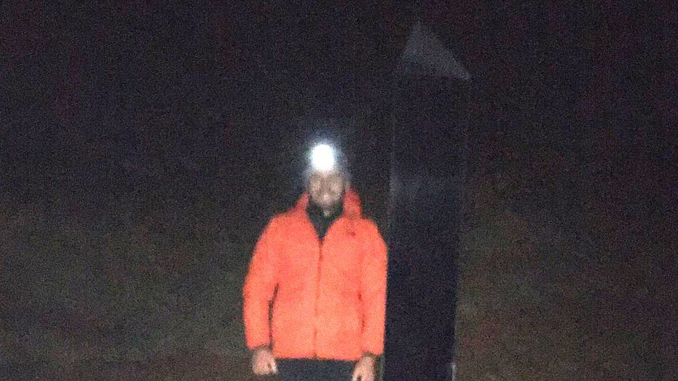 Tom Dunford with monolith