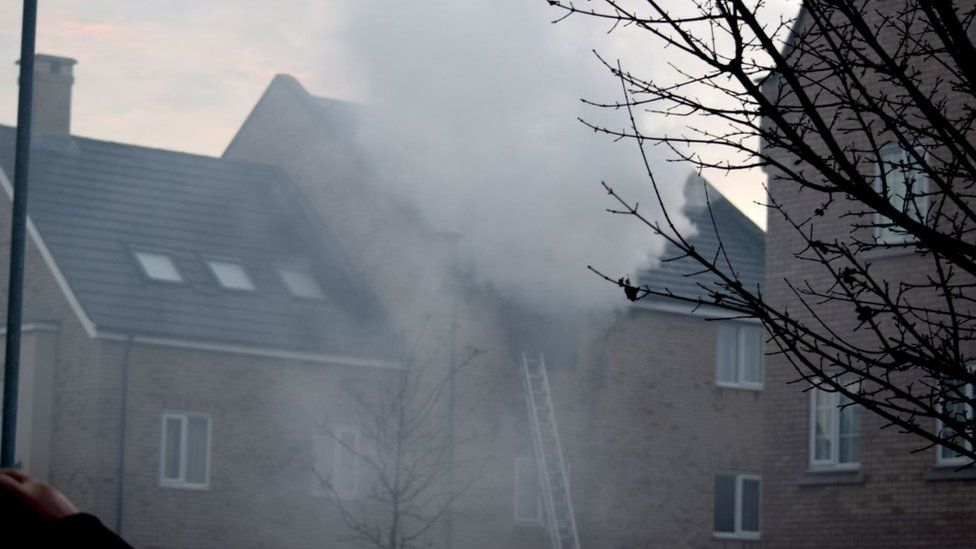 Fire at house in St Neots
