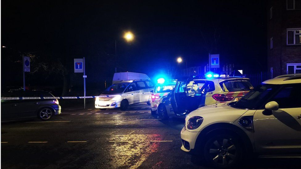 Police cars on Bromley Road