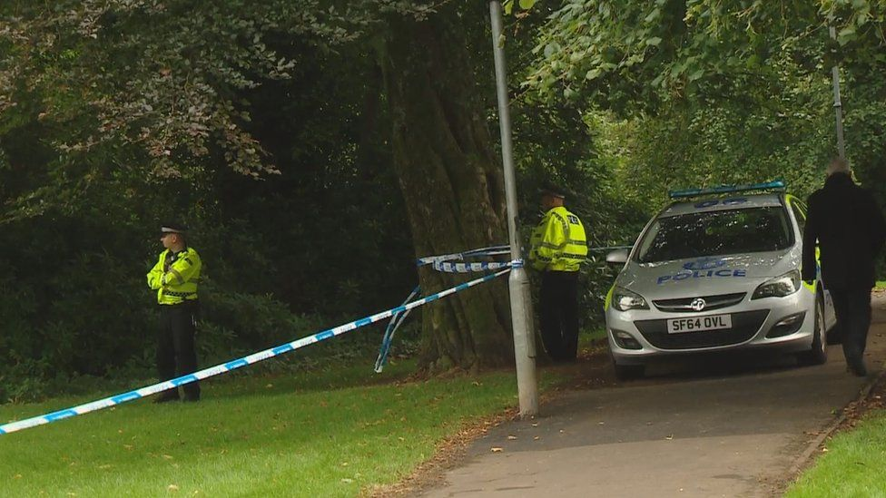 Police in Bourtreehill Park