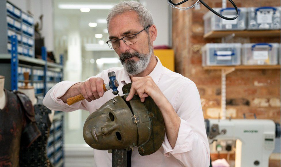 Head of costume props, armoury and footwear Alan Smith