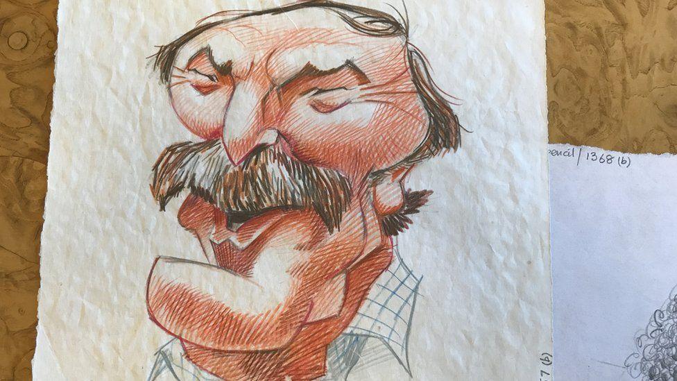 An original sketch of footballer and pundit Jimmy Greaves