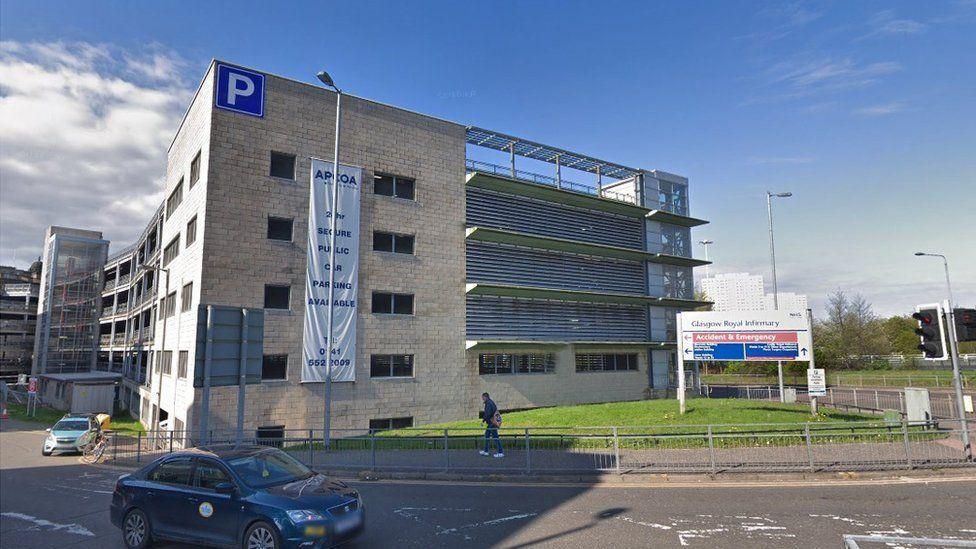 Car Park at Glasgow Royal Infirmary