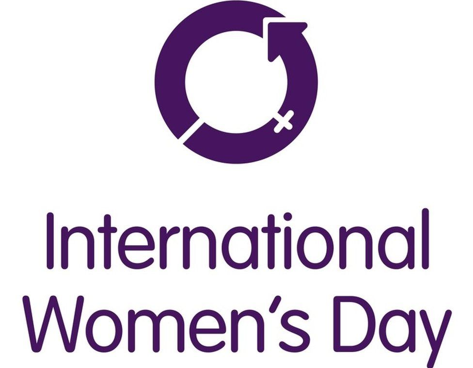The logo for International Women's Day