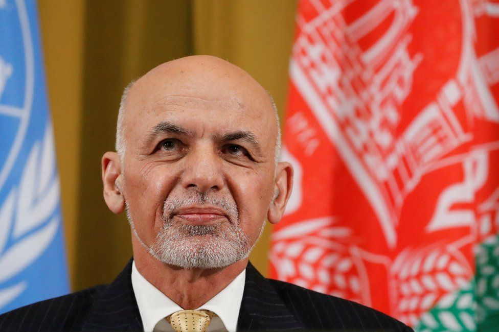 """Afghanistan""""s President Ashraf Ghani attends a two-day conference on Afghanistan at the United Nations in Geneva, Switzerland, November 27, 2018."""
