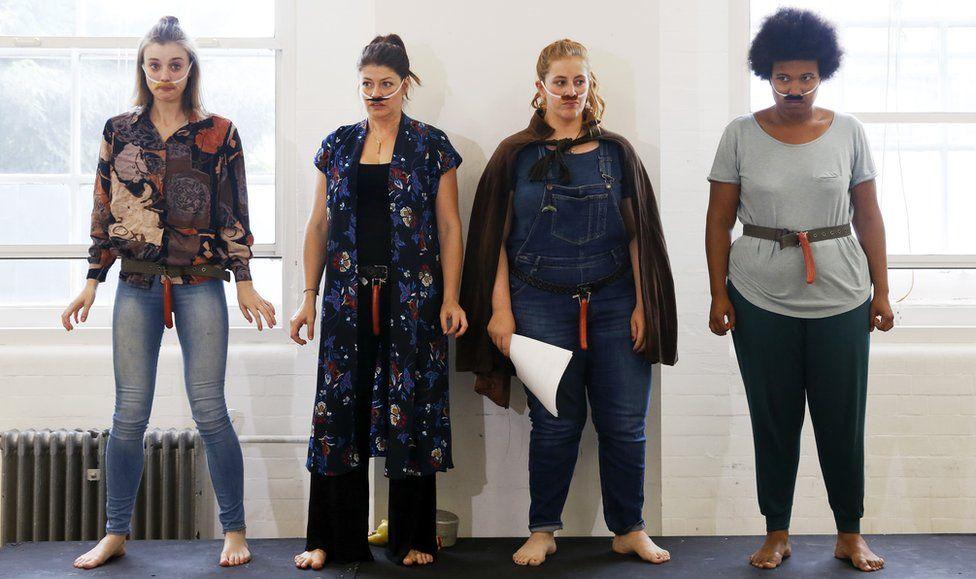 Cast members from Women in Power