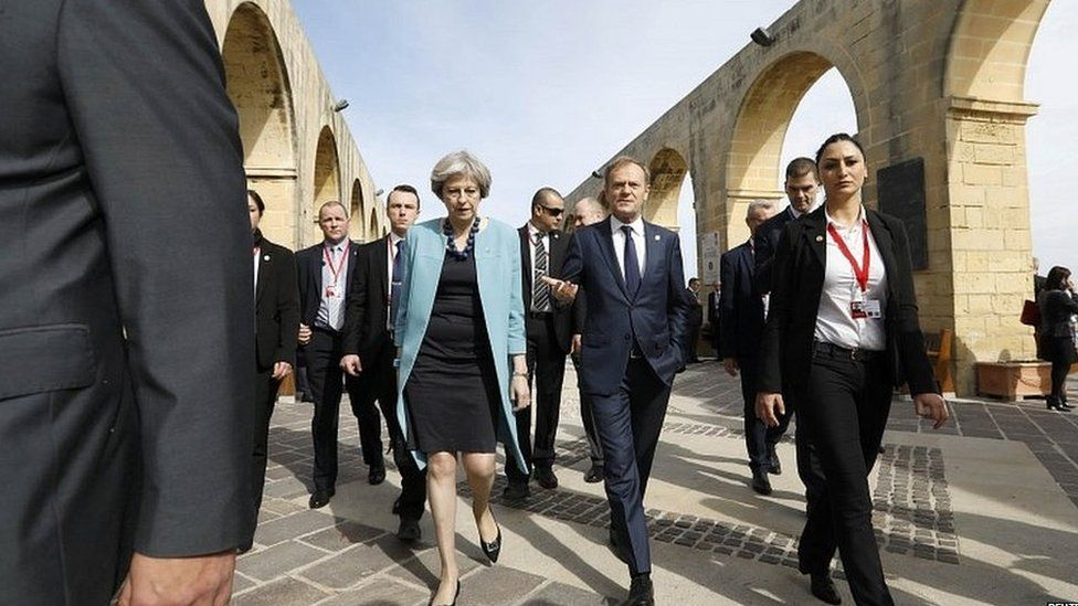 Theresa May and other EU leaders