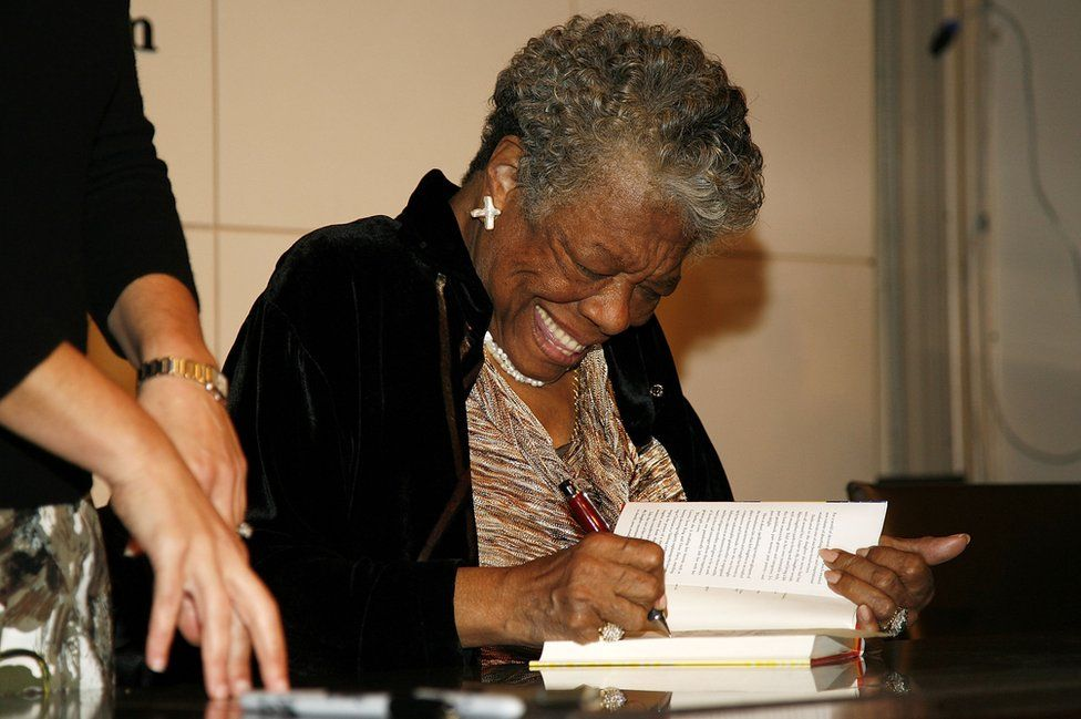 Maya Angelou signs copies of 'Maya Angelou: Letter to My Daughter' on 30 October, 2008 in New York City.
