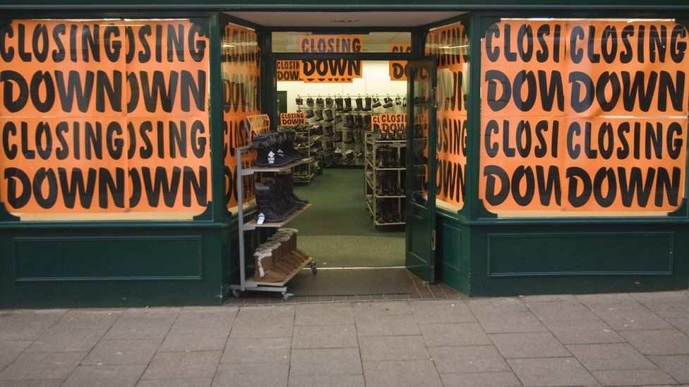 High Street shop closing down