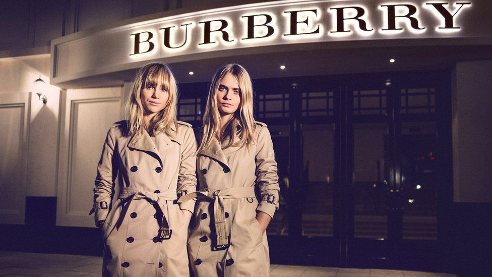 Suki Waterhouse and Cara Delevigne model Burberry