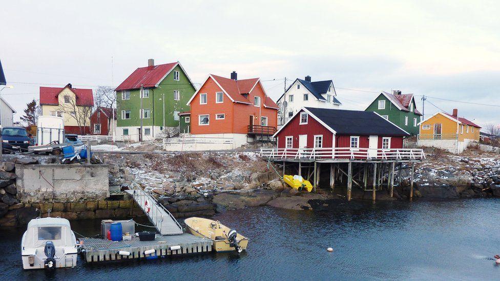 Village of Henningsvaer in the Lofoten archipelago