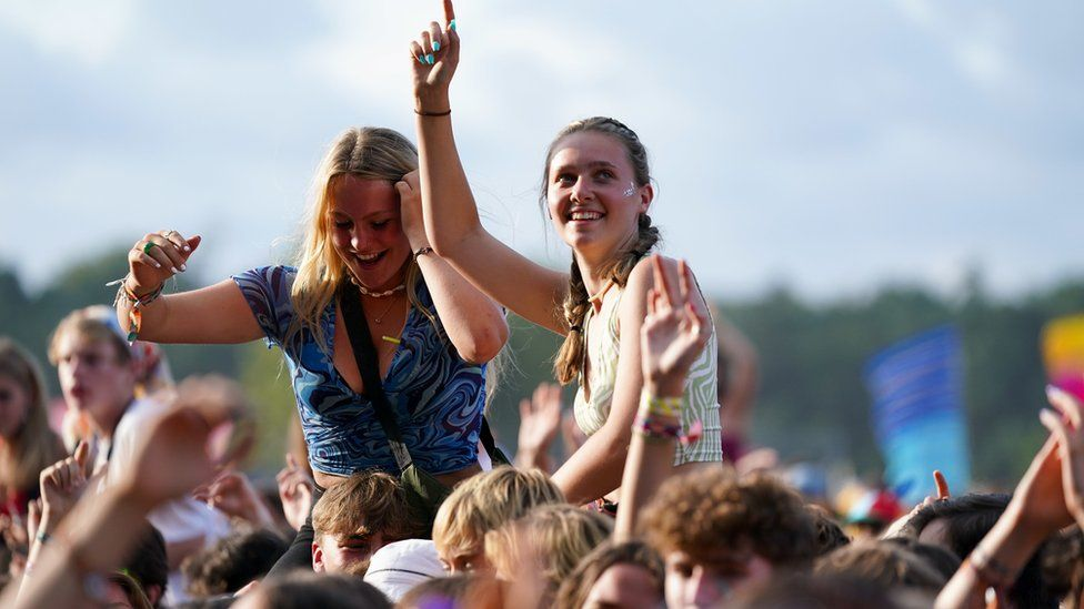 Fans at the Latitude festival
